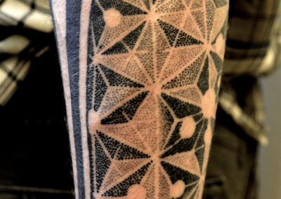 Healed sacred geometry half sleeve
