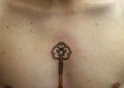 Keye chest color vintage tattoo